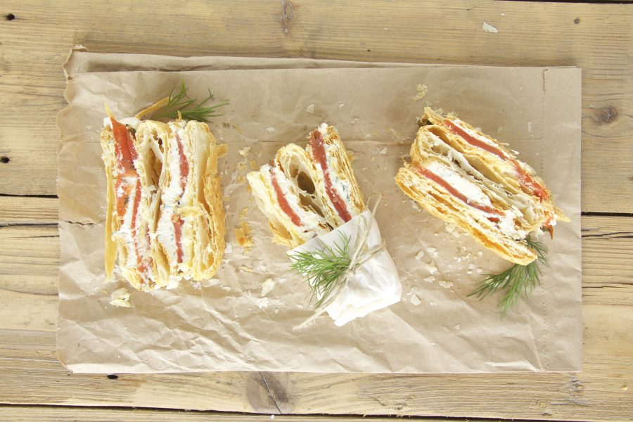 Mille Feuille vom Kodiak Wildlachs graved - Copyright: FRIEDRICHS/ Kerstin Getto